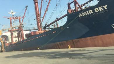 """سفينة نقل الحبوب """"امير بي"""" - ميناء بنغازي البحري"""