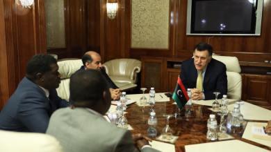 اجتماع فائز السراج والسلام كاجمان وأحمد حمزة والنائبين عن الجنوب محمد لينو، وأبو صلاح شلبي