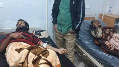 وصول المختطفين المحررين من قبضة داعش- قرب غدوة - إلى مستشفى تراغن
