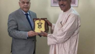 العميد خالد مازن مع وزير الداخلية النيجري محمد أبو عزوم