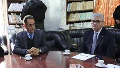 لقاء عبدالحفيظ غوقة مع فتحي باشاغا وعددا من المحامين - مقر نقابة المحامين طرابلس