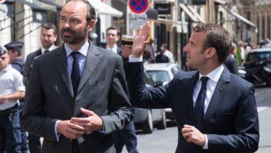 ماكرون مع رئيس الوزراء إدوار فيليب
