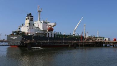 الناقلة اراقونا - ميناء بنغازي
