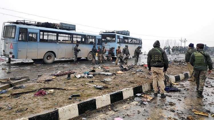 موقع الحادث في الجزء الهندي من كشمير