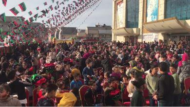 سوق القرضابية في مصراتة يحتفي مع الأطفال بذكرى ثورة فبراير