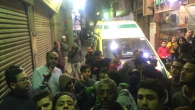 صورة من موقع الحادثة في الدرب الأحمر قرب الجامع الأزهر بالقاهرة