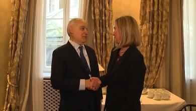 لقاء غسان سلامة مع فيديريكا موغيريني