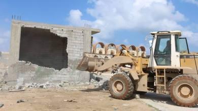 إزالة مبان عشوائية من أمام سوق العرب ببنغازي