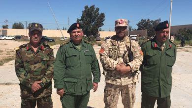 منتسبو منطقة الزاوية العسكرية التابعة للقيادة العامة للجيش الوطني في أول جمع صباحي
