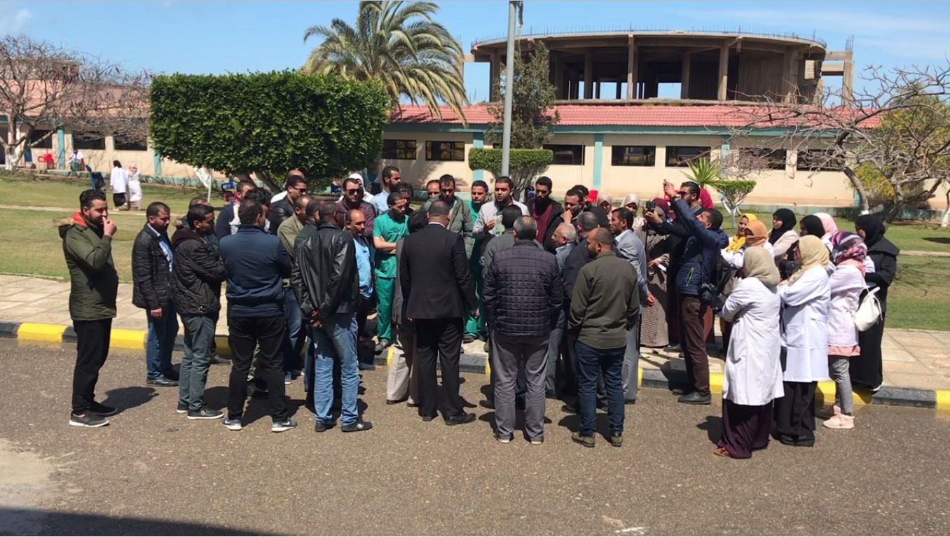 اعتصام في المعهد القومي للأورام بمدينة صبراتة