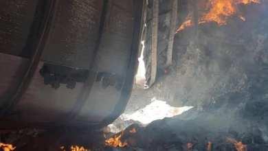 تعرض مخازن الكتاب المدرسي بمنطقة عين زارة للقصف وحرق