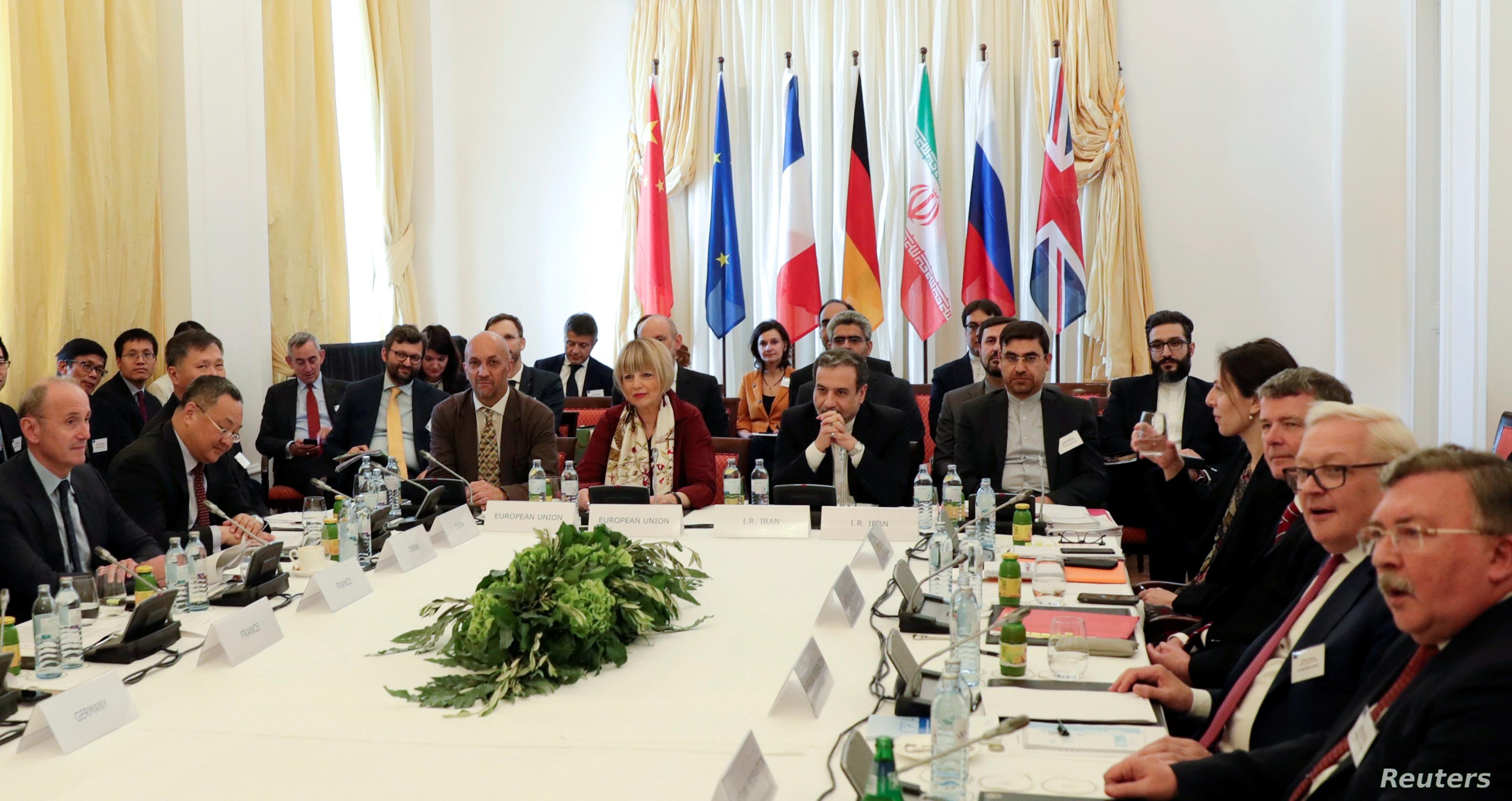 لقاء أوروبي إيراني استضافته العاصمة النمساوية فيينا لإجراء محادثات بشأن تثبيت الاتفاق الدولي مع إيران