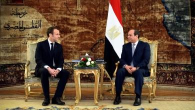 """الرئيس المصري عبدالفتاح السيسي والرئيس الفرنسي إيمانويل ماكرون - """"صورة أرشيفية"""""""