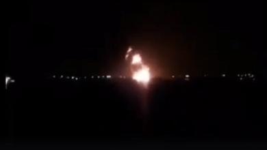 قصف قاعدة مصراتة الجوية