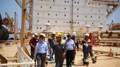 إكمال أعمال الصيانة في حقل البوري البحري