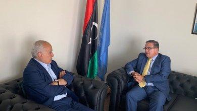 لقاء المبعوث الأممي إلى ليبيا غسان سلامة مع سفير دولة الكويت لدى ليبيا مبارك العدواني