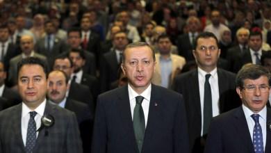 أحمد أوغلو - أردوغان - علي باباجان