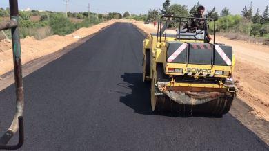 إتمام إنجاز صيانة طريق صرمان أبوعيسى