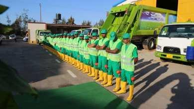 100 عامل و 19 آلية ضمن المرحلة الثانية لخطة النظافة العامة في مدينة بنغازي