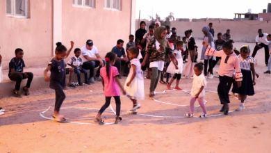 برنامج ترفيهي لأطفال النازحين من مرزق تنظمه في تراغن مؤسسة طمزين للأعمال الخيرية