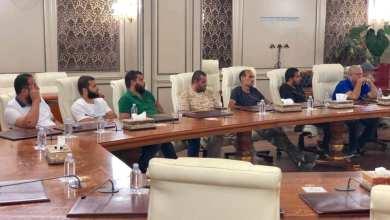 قادة التشكيلات المسلحة بالعاصمة في اجتماع مع رئيس المجلس الرئاسي فائز السراج