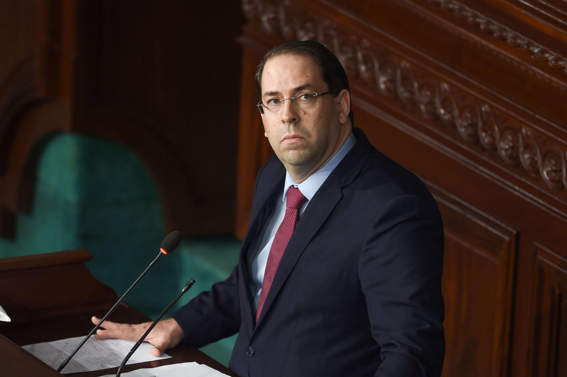 رئيس الحكومة التونسية يوسف الشاهد- صورة إرشيفية