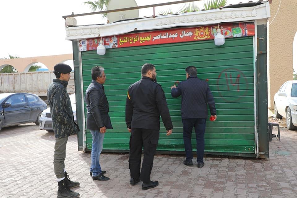 استمرار حصر الأكشاك المخالفة في بنغازي