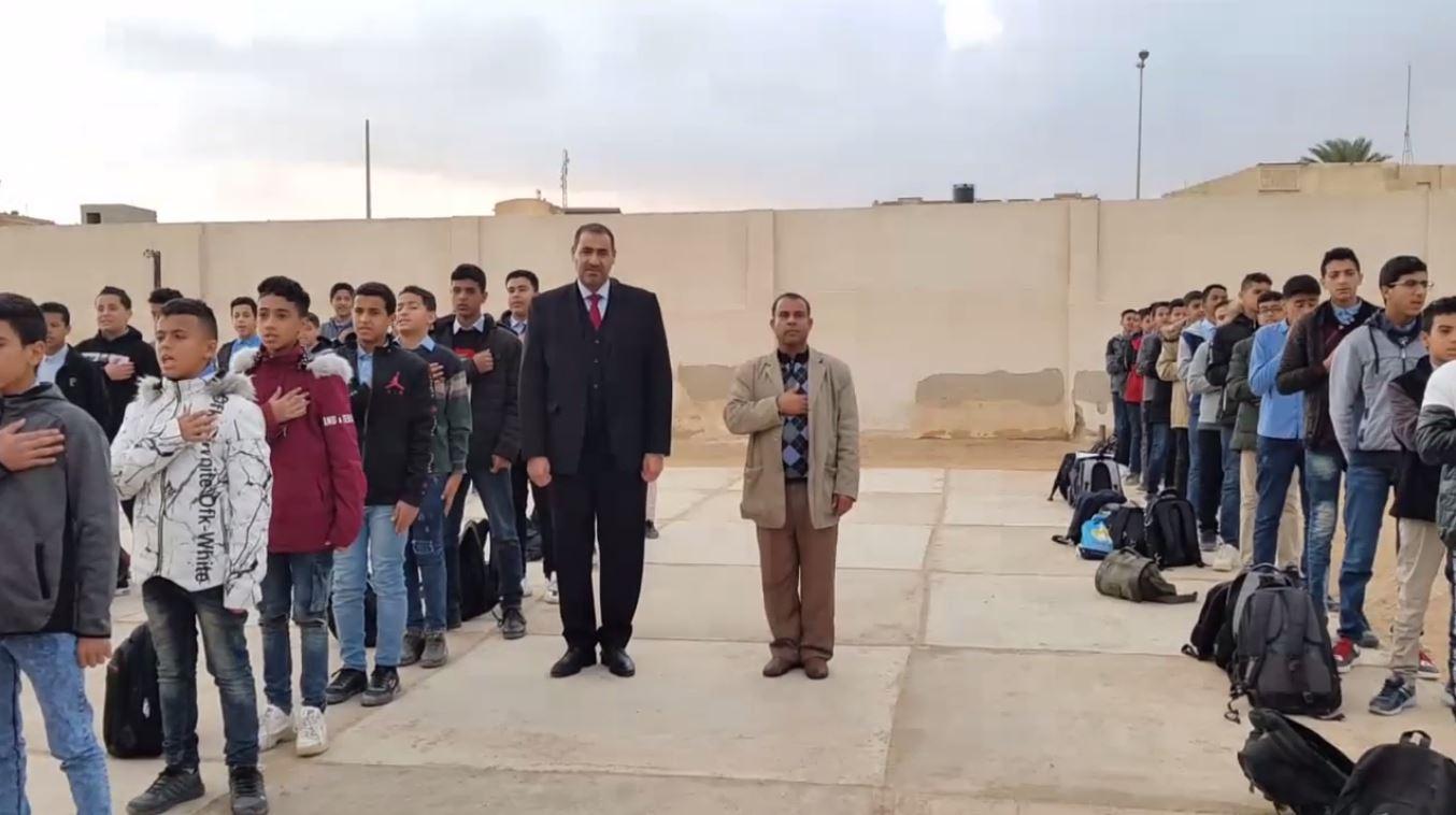 وزير تعليم المؤقتة د.فوزي بومريز يحضر طابور الصباح في عدة مدارس باجدبيا دعماً للعملية التعليمية