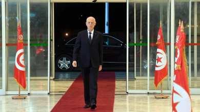 الرئيس التونسي قيس سعيد- مقر التلفزة الوطنية التونسية