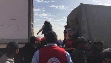 الهلال الأحمر غدامس يحصر ليوزع 100 طن من المساعدات الجزائرية