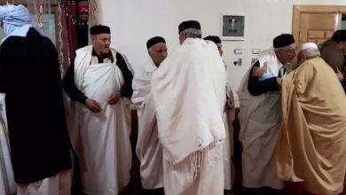 وفد من قبائل فزان يزور ترهونة للتضامن وتأكيد الدعم للجيش الوطني