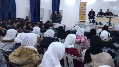 حملة توعوية تنطلق من مدرسة المطرد على مستوى بلدية الزاوية الغرب حول فيروس كورونا