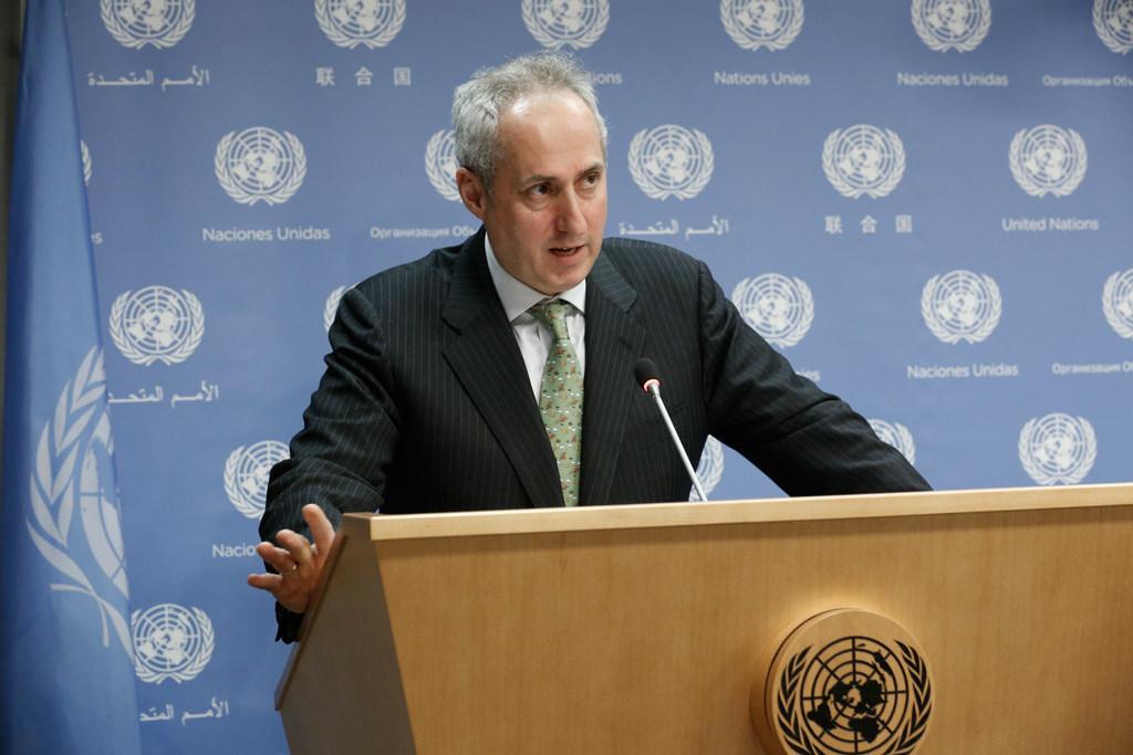 المتحدث باسم الأمين العام للأمم المتحدة ستيفان دوغاريك