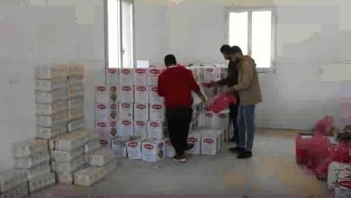 مكتب الزكاة يوزع سلات غذائية مجانية في شحات