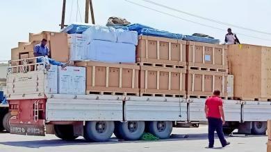 وصول التجهيزات الطبية لمركز الزنتان لعلاج مصابي كورونا