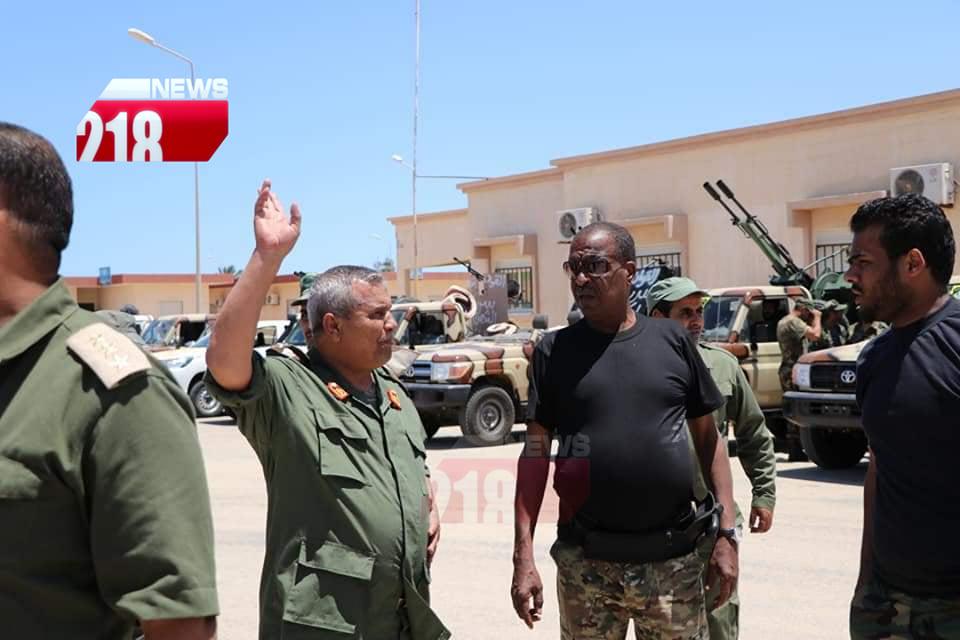 دوريات استطلاع للصاعقة بقيادة اللواء ونيس بوخمادة لحماية الهلال النفطي