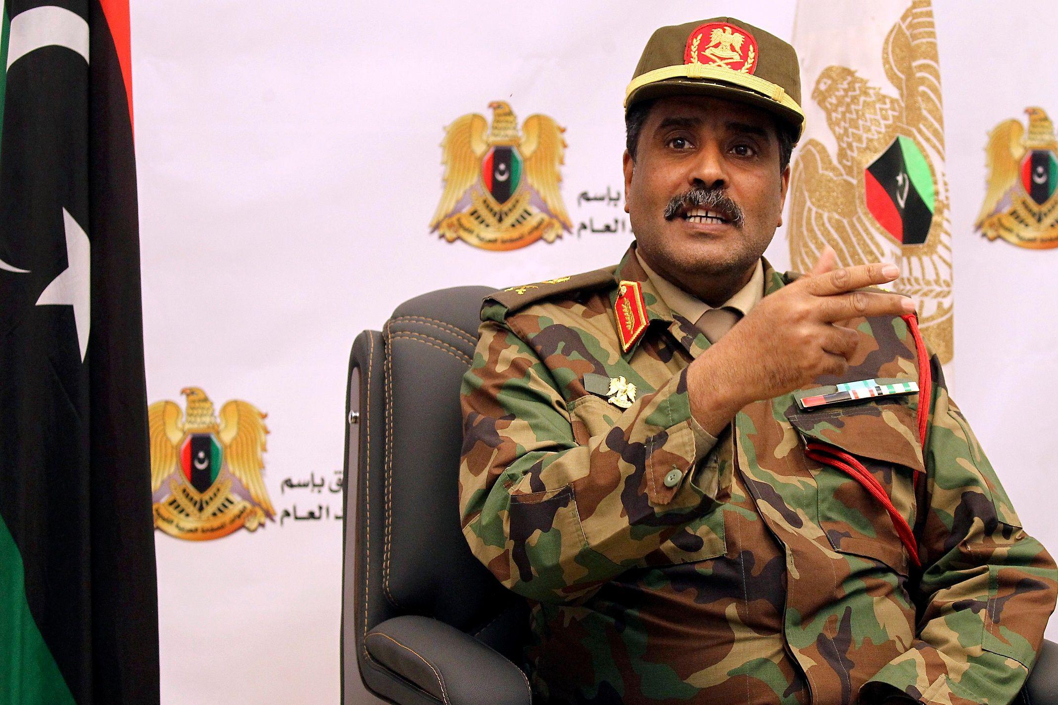 اللواء أحمد المسماري المتحدث الرسمي باسم الجيش الوطني