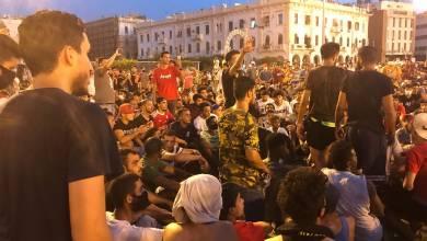 اللجنة الوطنية لحقوق الإنسان بليبيا تدين قمع المتظاهرين بالعاصمة لليوم الثالث على التوالي