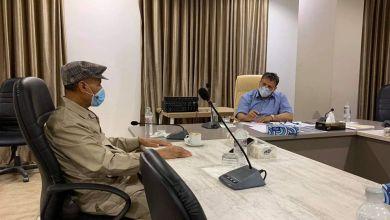 وزير الصحة بالحكومة الليبية الدكتور سعد عقوب يلتقي مع رئيس أركان القوات البرية اللواء مبروك سحبان