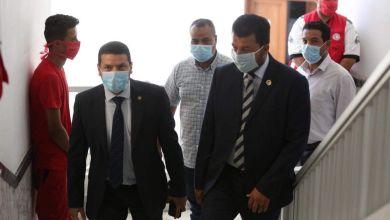 الدرسي يجري زيارة لفرع الهلال الأحمر بنغازي