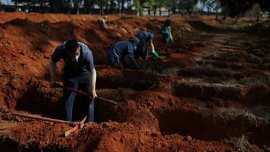 """مقابر موتى كورونا في ساو باولو البرازيلية-""""أرشيفية"""""""