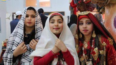 """أزياء ليبية أمازيغية أصيلة لطفلات من مدينة زوارة-""""أرشيفية"""""""