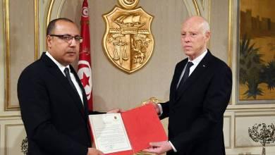 """هشام المشيشي مع الرئيس التونسي قيس سعيد-""""أرشيفية"""""""
