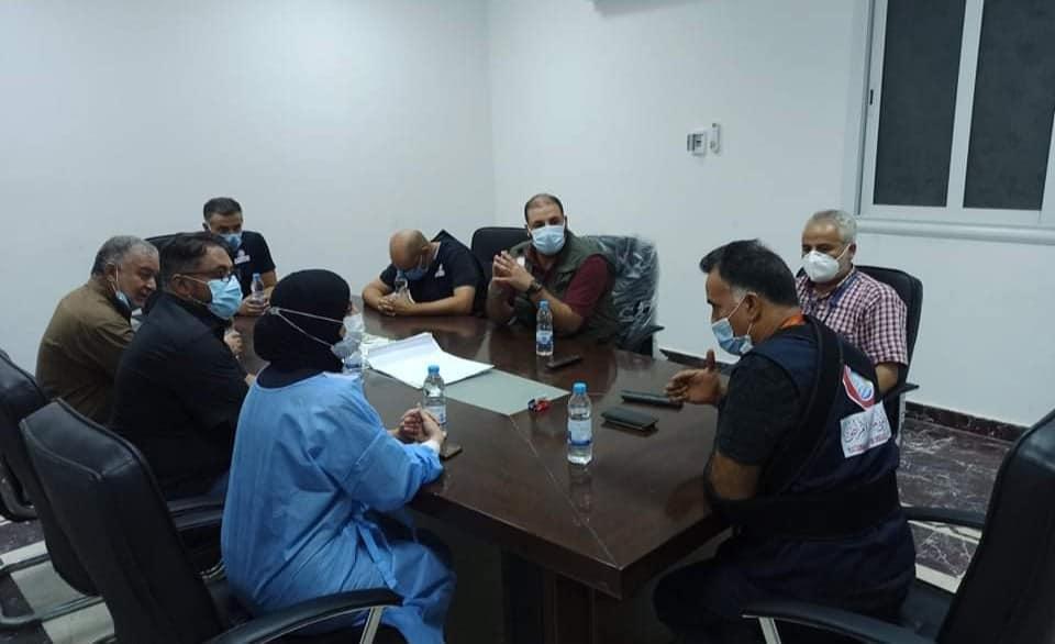 فريق من المركز الوطني لمكافحة الأمراض يزور مدينة الزاوية