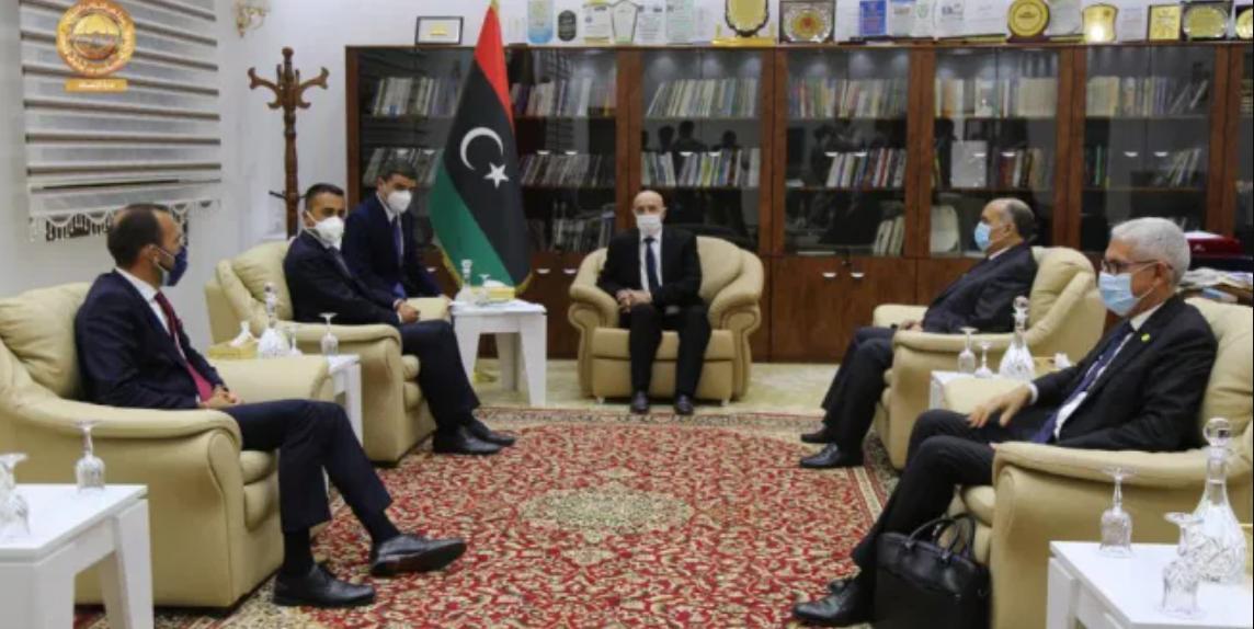 دي مايو يؤكد لعقيلة صالح دعم إيطاليا للحل السياسي في ليبيا
