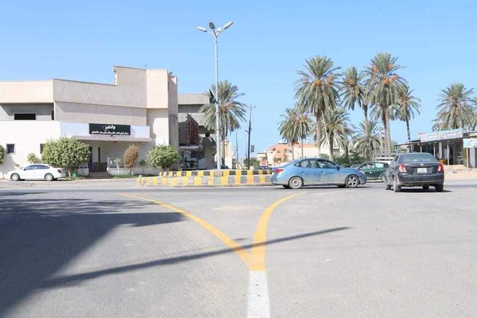 رصف الطرق في بلدية تاجوراء