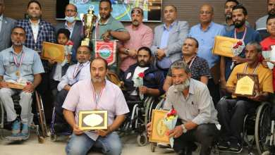 بلدية بنغازي تُكرم منتخب السلة على الكراسي الفائز ببطولة السودان العربية