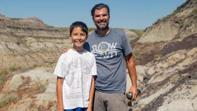 صبي يكتشف هيكل ديناصور عمره حوالي 69 مليون عام