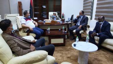 لقاء وزير شؤون النازحين بحكومة الوفاق مع رئيس وأعضاء بلدي الشويرف