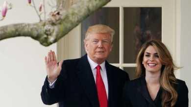 الرئيس الأميركي دونالد ترامب ومستشارته هوب هيكس